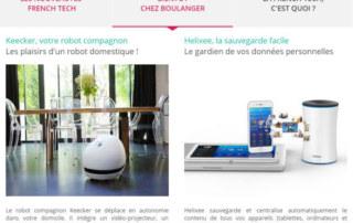 """Helixee fait parti des 6 produits présents dans la rubrique """"Bientôt chez Boulanger"""" !"""