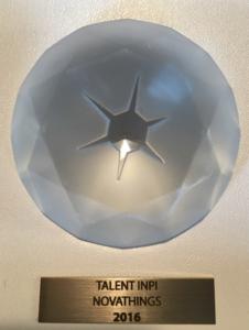 Novathings win the TALENT trophy from #INPI