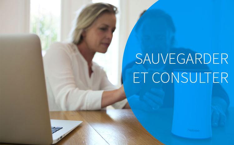 Guide utilisateur, Sauvegarder et consulter