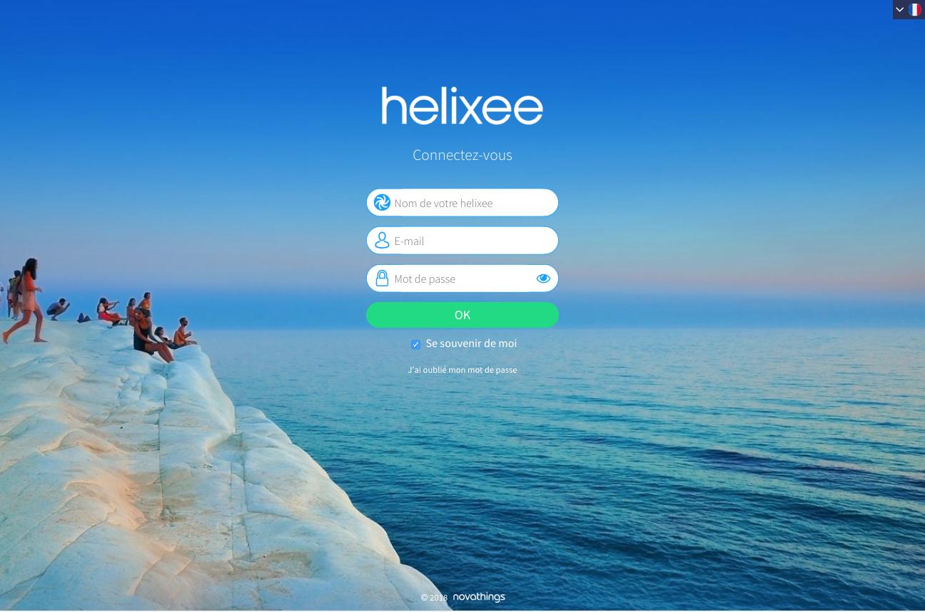 Connexion à l'application web my.helixee.me