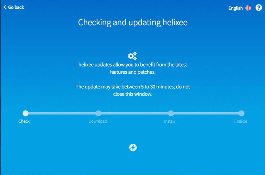 helixee installation checking update