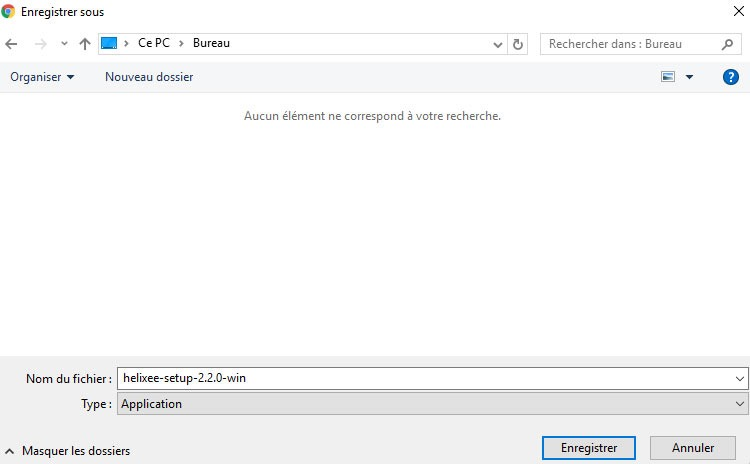 Installation helixee sur windows