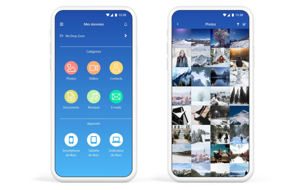 helixee app mobile données photos