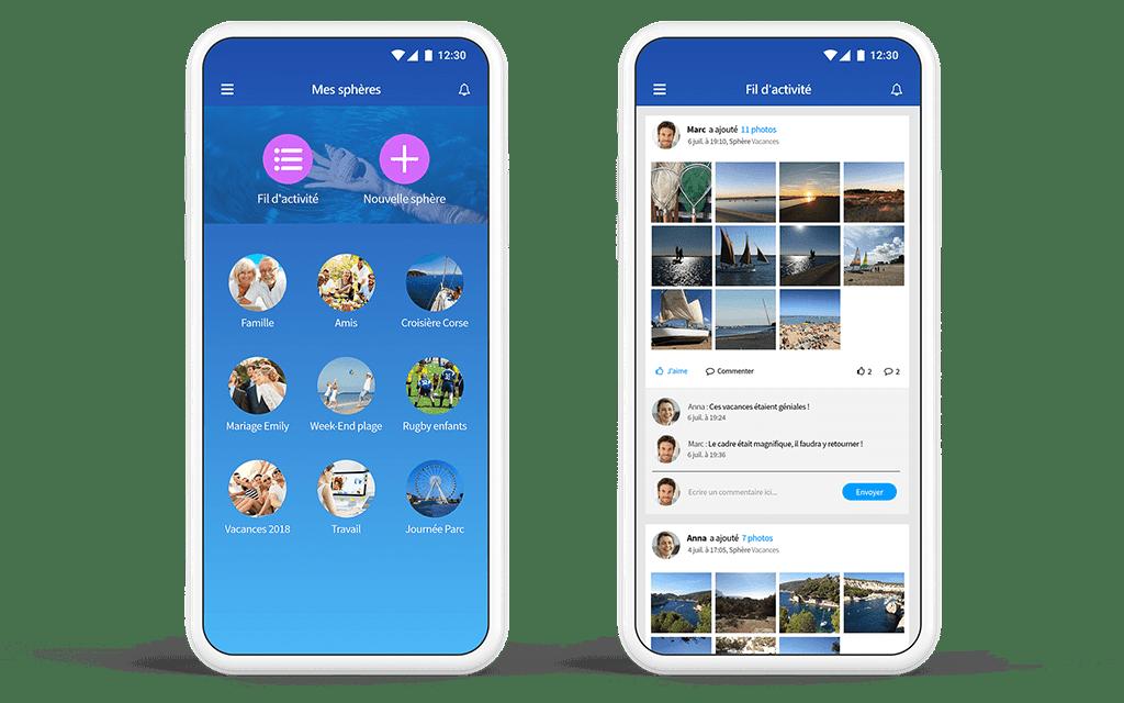helixee smart cloud sphères réseau social