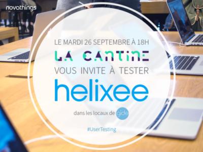 Venez tester helixee mardi 26 septembre avec la Cantine à Nantes