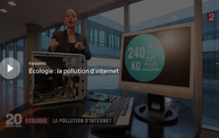 reportage au JT de20H de France 2 sur la pollution d'internet