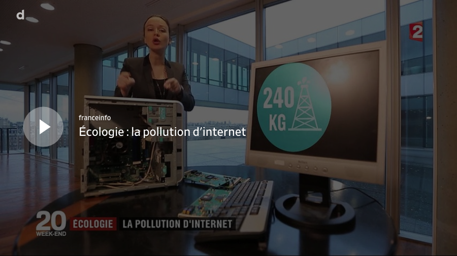 [ Vidéo France 2] Ecologie : La pollution d'internet