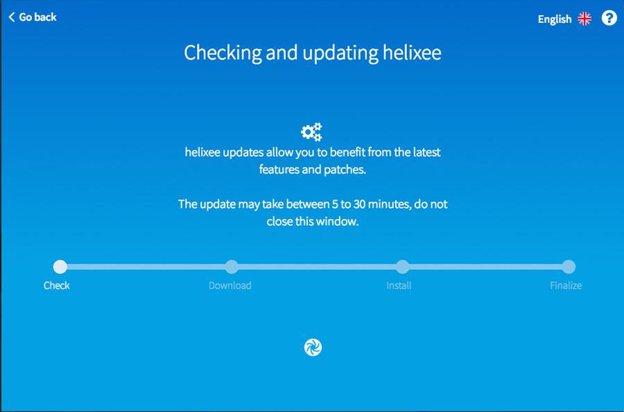helixee installation checking update