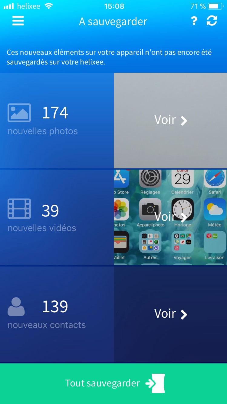 Sauvegarde application mobile