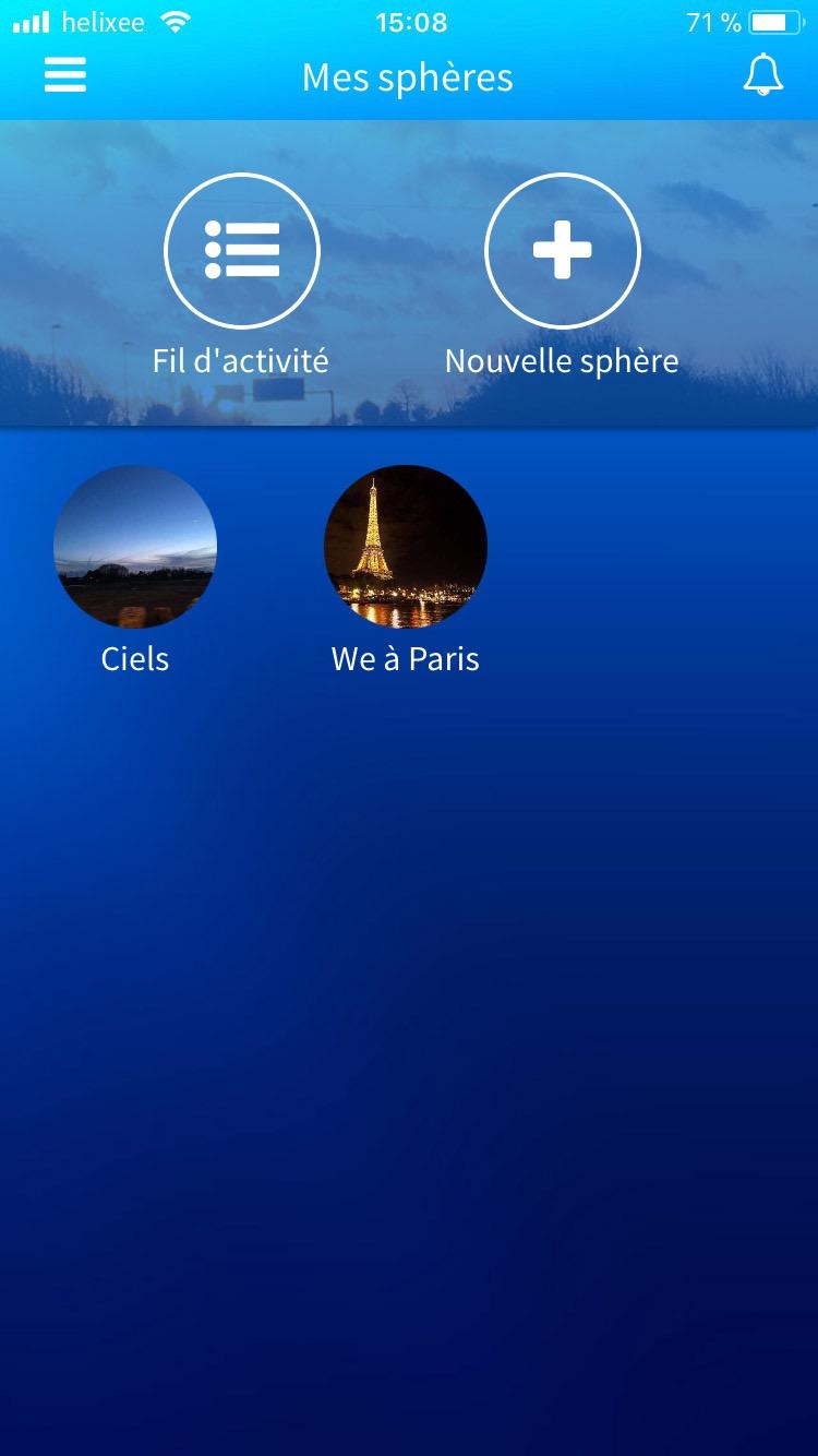 Mes pshères application mobile
