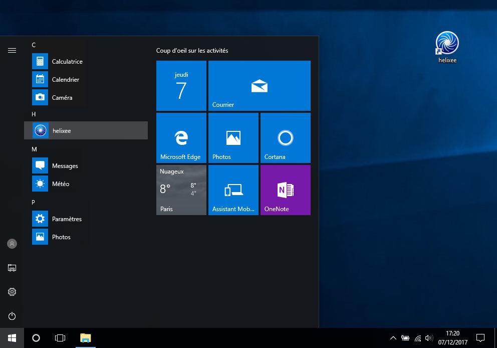Application de bureau Windows